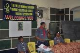 Mr. Elias Corriea -Asst. Dist. Scout Comm speaks