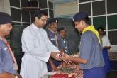 Felicitating the  Chief Guest