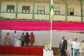 Hoisting the School flag