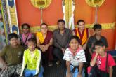with Buddhist monks